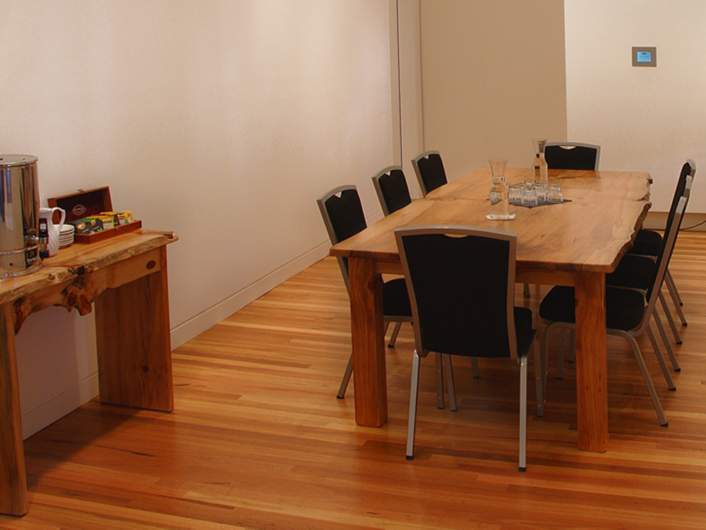 custom designed boardroom table PMHC Glasshouse