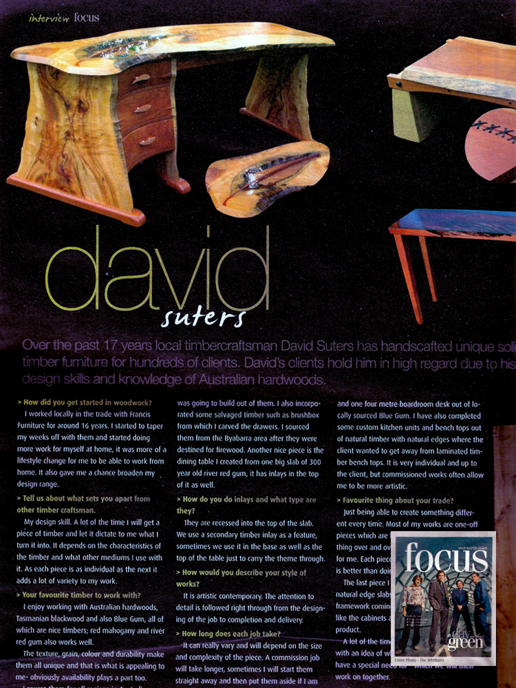 Focus Mag Interview with David Suters