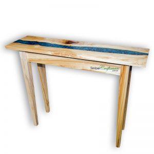 australian-camphor-laurel-transparent-blue-river-pebble-resin-seam-console-table-by-david-suters-timbercraftsman