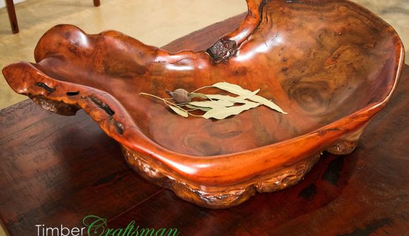 4030A Large River Red Gum Burl Bowl by David Suters Timbercraftsman
