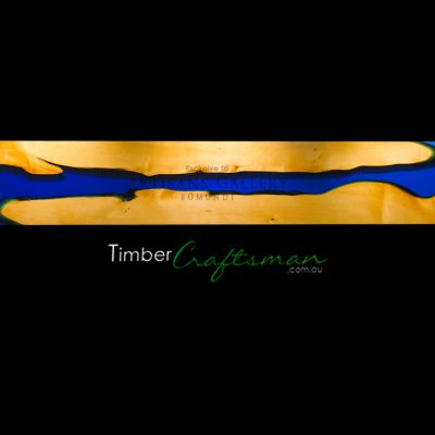 623A Tasmanian Huon Pine and Transparent Brilliant Blue Resin by David Suters Timbercraftsman